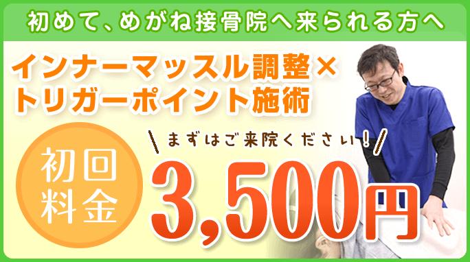 初回3500円